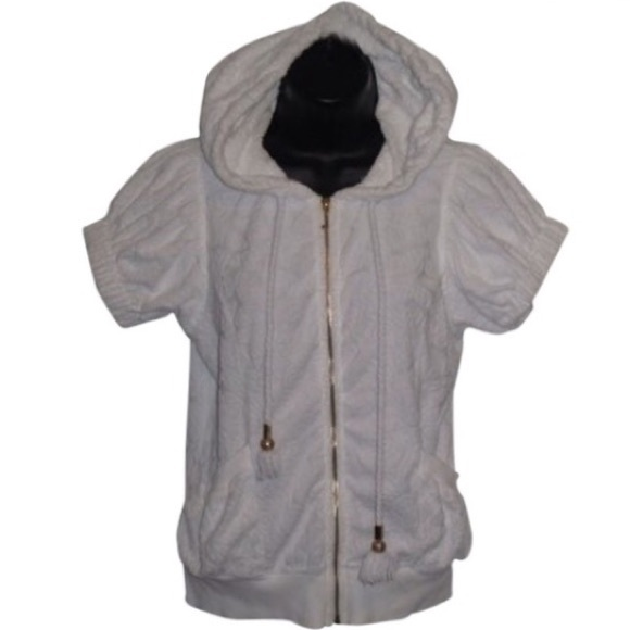 Juicy Couture Tops - Vintage Juicy Couture White Hooded Top.